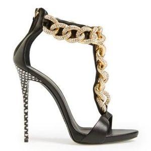 Giuseppe Zanotti Crystal Chain Sandals